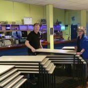 Aalvink levert nieuwe tafels in de Bolder af