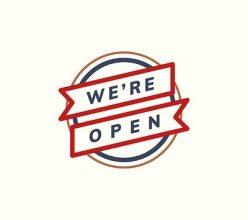 We gaan weer open.
